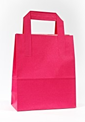 - Fuchsia Paper Carrier Bags With External Taped Handles SOS