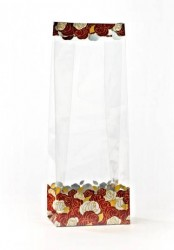 - Gold Flower Garden Metalized Printed Small Bags